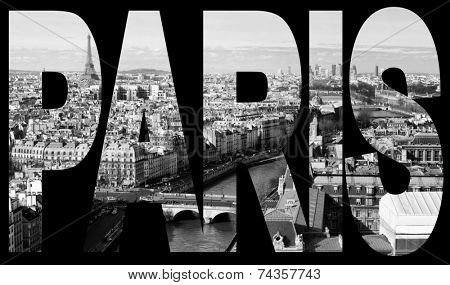 paris, france - panorama from Notre-Dame