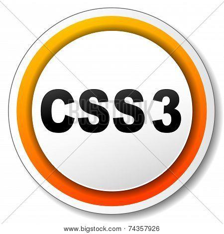 Css3 Orange Icon