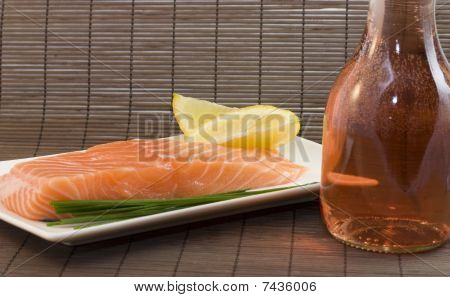 Salmon And Rose Wine