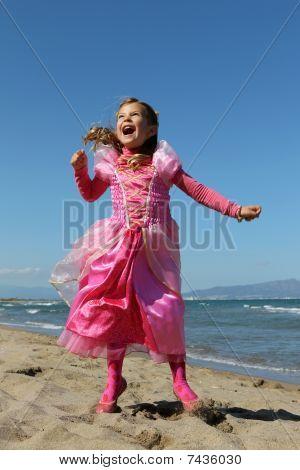 Princess on a beach
