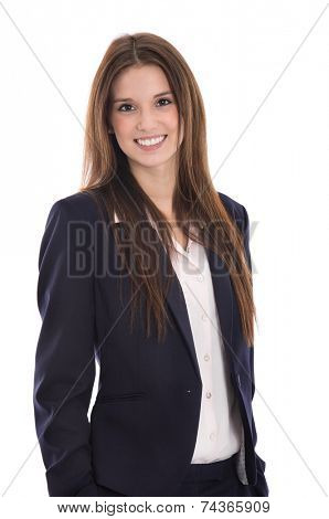 Smiling portrait of a young successful smiling businesswoman.