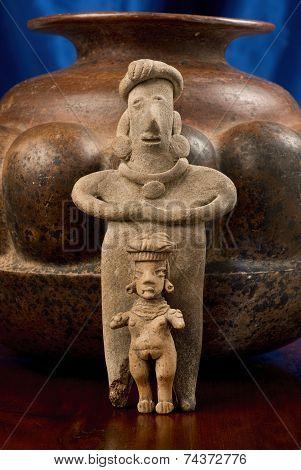Antique Pre Columbian Female Figures