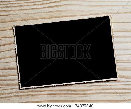 Vintage Blank Photograph