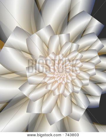 A fractal wedding bouquet