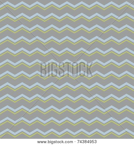 Tile vector pattern with pastel blue and green zig zag print on grey background for seamless wallpaper decoration poster