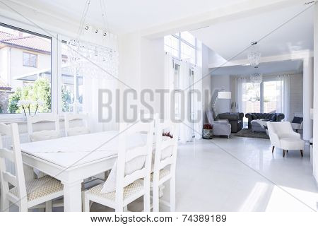 Roomy Dinning Room And Living Room