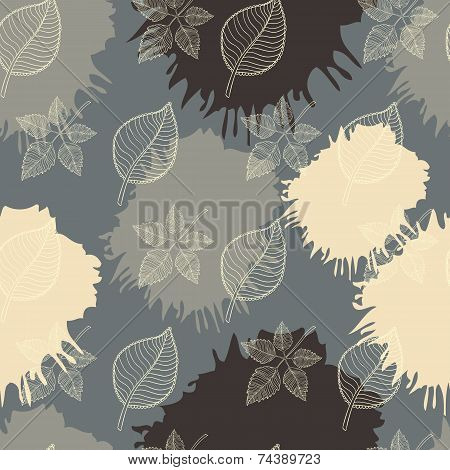 Autumn seamless pattern abstract leaf,leaf fall,defoliation,autumn leaves ,falling leaves poster