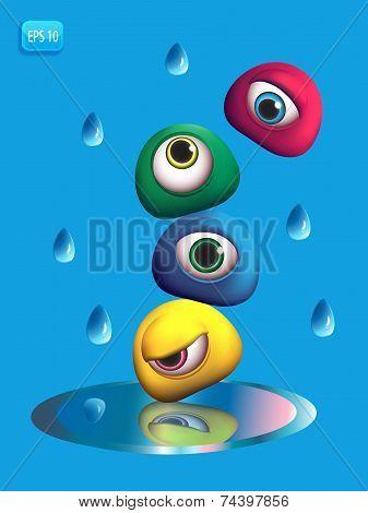 3D Monsters Eye - Rain