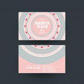 modern pink vinyl record design for business card poster