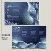 abstract technology background for half-fold brochure template poster