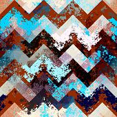Seamless background pattern. Chevron pattern with grunge effects. poster