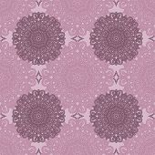Squared background - ornamental seamless pattern. Design for bandanna carpet shawl pillow or cushion. poster