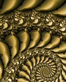 Abstract fractal image resembling antique lace embroidery on silk poster
