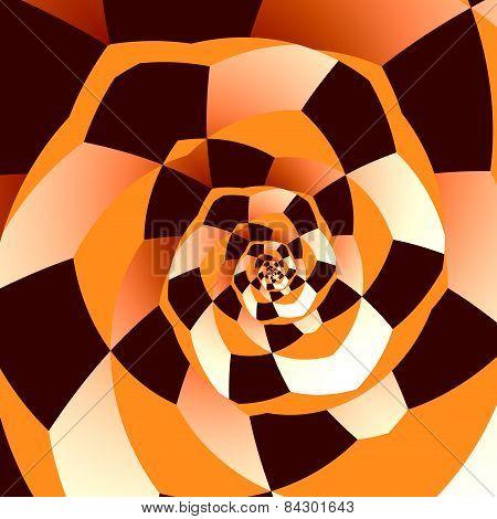 Artistic spiral. Abstract recursive art. Decorative fantasy background. Creative ornamental loop.
