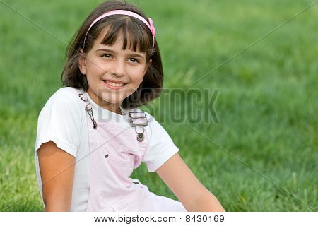 Portrait Of A Pretty Smiling Girl
