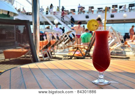 Red Coctail On Ship