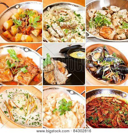 Various Stew And Ragout Collage
