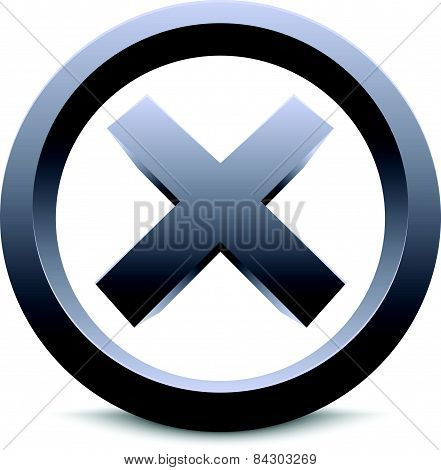 Bold Cross Emblem. Cross Sign, Letter, Shape, Symbol. Vector.