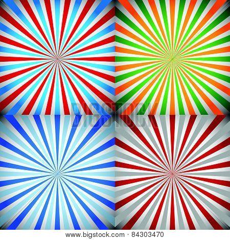 Starburst, Sunburst, Burst or Rays Backgrounds