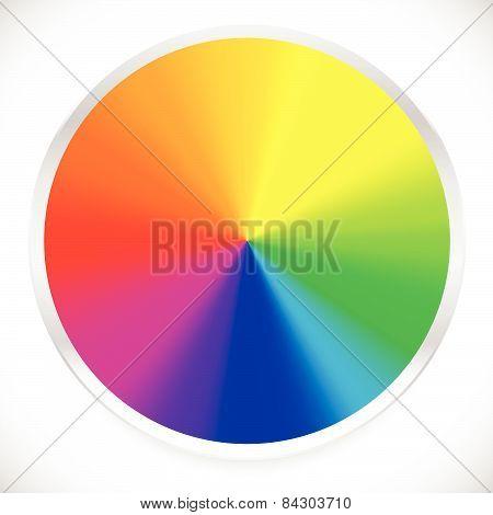 Color Wheel, Circular, Circle Color Palette With Vibrant, Vivid Colors