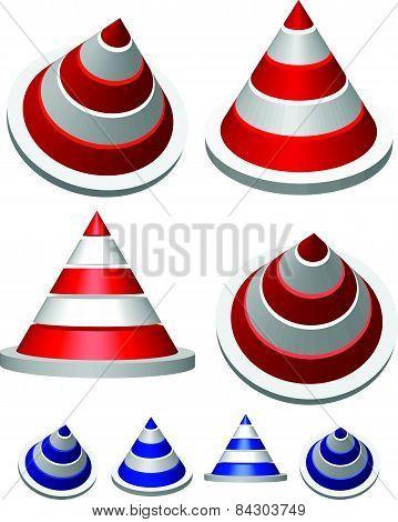 Illustration Of Traffic Cones