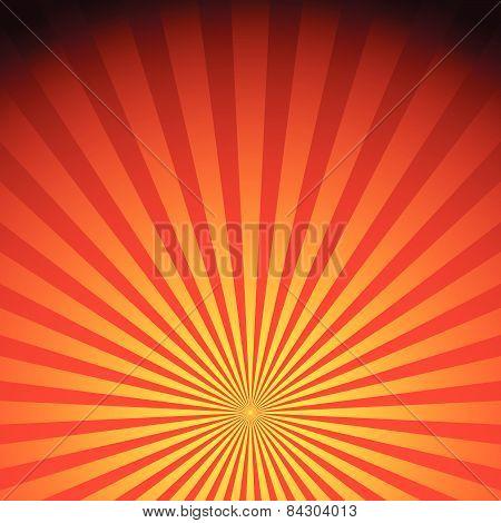 Rays, Sunburst, Sunrise Vector