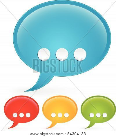 Speech Bubbles, Talk Bubbles. Communication, Conversation, Support, Feedback, Contact Concepts.