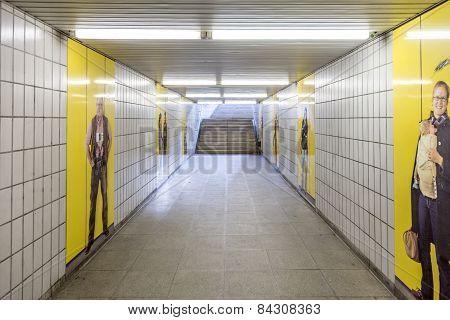 Metro Station For S And U-bahn Eschenheimer Tor In Frankfurt, Germany