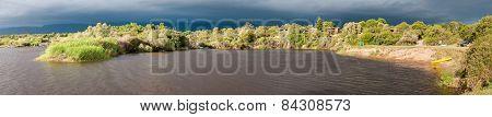 Panorama Of Bree River At Lang Elsies Kraal Restcamp