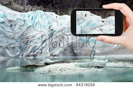 Photo Of Briksdal Glacier In Norway