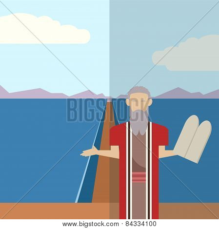 Moses And Sea  Icon