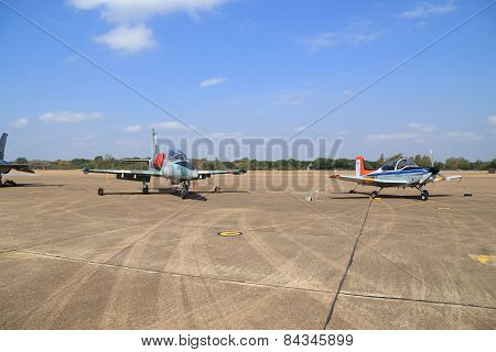 Airplane Show On Children's Day At Korat Wing 1 Royal Thai Airforce