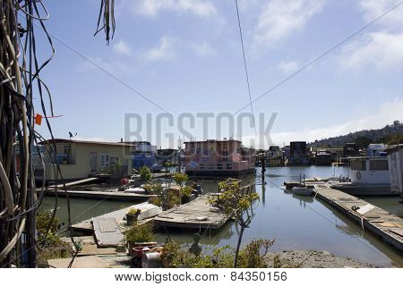 Sausalito Houseboats In San Francisco Bay Area