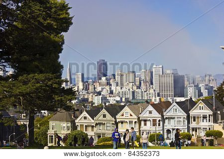 The Painted Ladies Victorian Houses