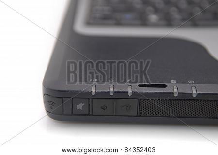 Black Notebook Close Up