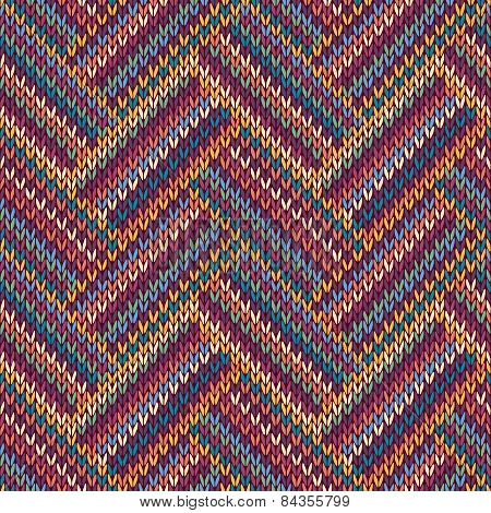 Multicolored Seamless Knitted Pattern