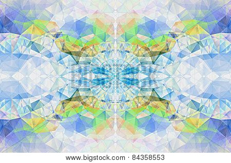 Geometrical Abstract Background From Triangles.