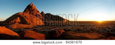 Spitzkoppe landscape in Damaraland, Namibia.