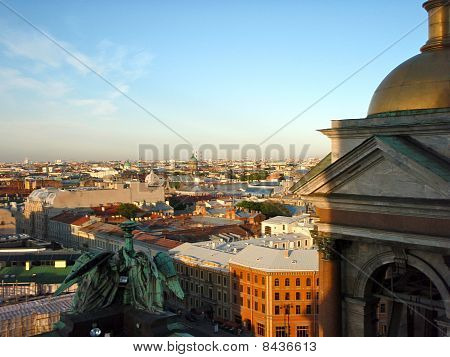 Old City Rooftops, St. Petersburg, Russia