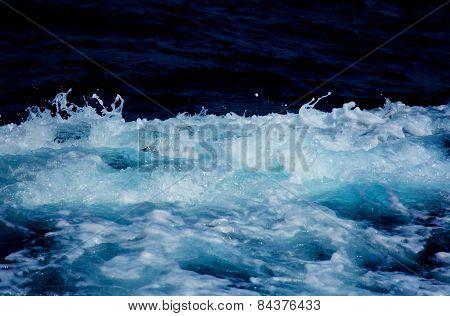 Abstract wake sea foam