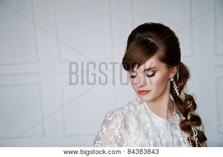 Beautiful Young Bride With Retro Hairstyle