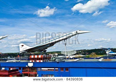 Supersonic Aircraft  Tupolev Tu-144 In The Museum In Sinsheim