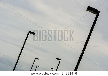Black Light Pole And Sky