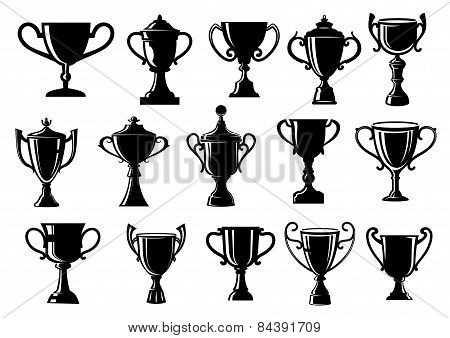 Sport and achievement trophy cups