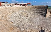 Ancient Greco Roman theater in Kourion Cyprus poster
