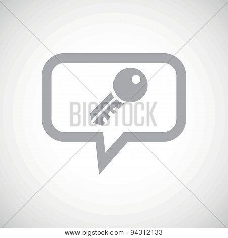 Key grey message icon