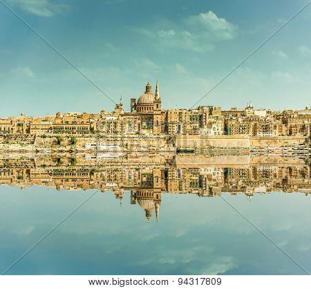 Valletta Skyline in the day. Malta