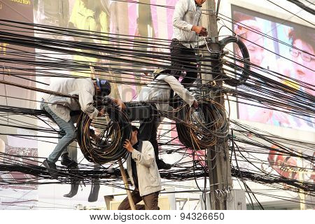 Technician Installation  Phone Line