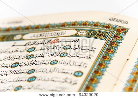 Sheets Entire Qoran - Koran - Qur'an With The Names Of Allah