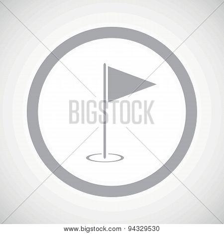 Grey flagstick sign icon